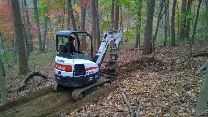 Professional Trail Builder Steve Thomas Constructs the New Trail